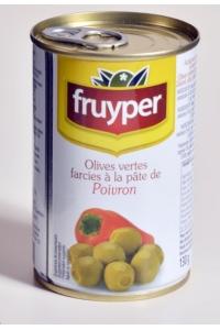 grossiste Olives Vertes Farcies à la Pâte de Poivron