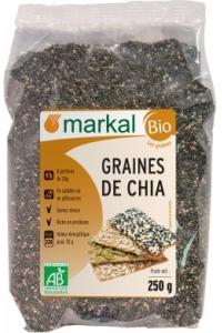 Graines de chia produit bio ab bahadourian graines de chia produit bio ab paquet 250g markal - Graine de chia coupe faim ...