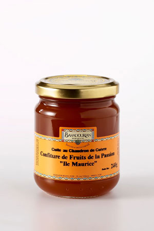 Confiture fruits exotiques Confiture de Fruits de la Passion Ile Maurice