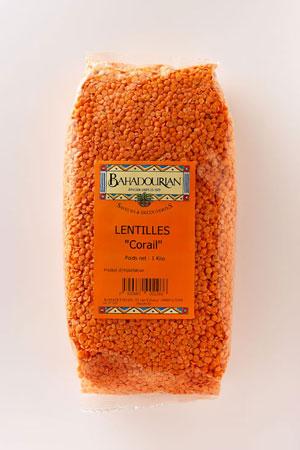 lentilles corail bahadourian lentilles corail paquet 500g les l gumes secs. Black Bedroom Furniture Sets. Home Design Ideas