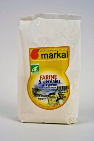 Farine 5 Céréales et 3 graines Produit Bio AB