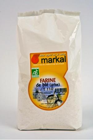 Farine de Blé Grise T110 Produit Bio AB