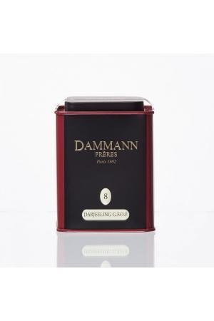 Thé Dammann Noir Darjeeling G.F.O.P  N°8 Golden Flavoured Orange Pekoe