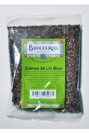graines de lin brun bahadourian graines de lin brun sachet 250g les epices enti res ou moulues. Black Bedroom Furniture Sets. Home Design Ideas
