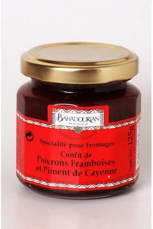 Confit de Poivrons Framboises et Piment de Cayenne